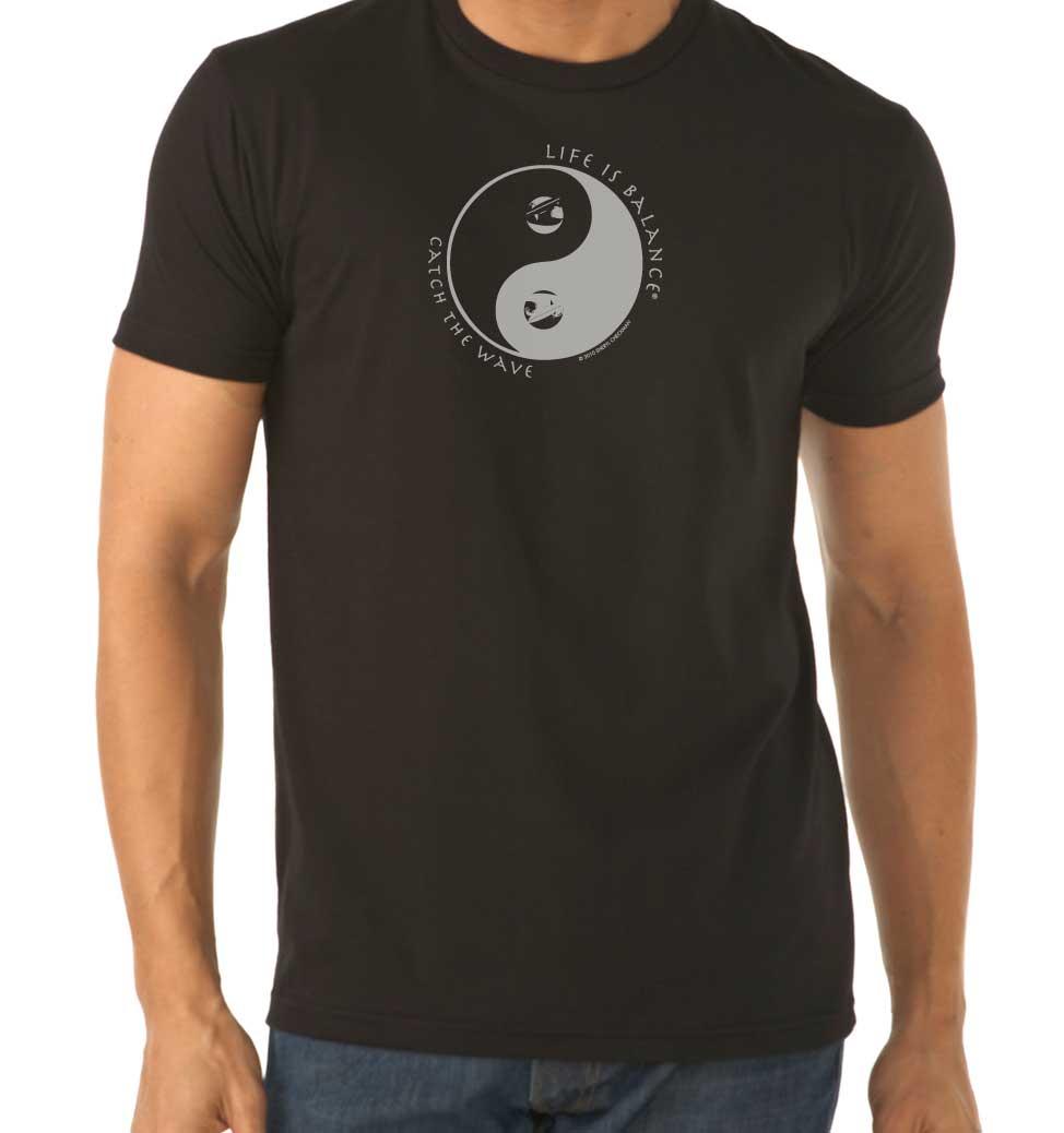Men's short sleeve surfing t-shirt (black)