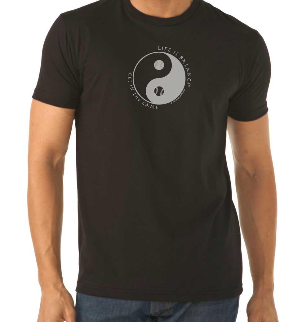 Men's short sleeve baseball/softball t-shirt (black)