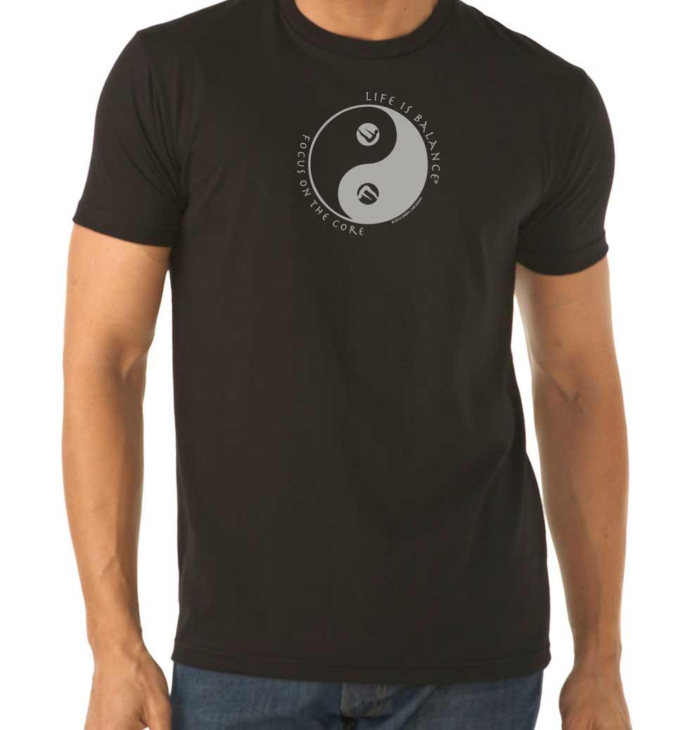 Pilates Men's/UnisexT-Shirt (Black/white)