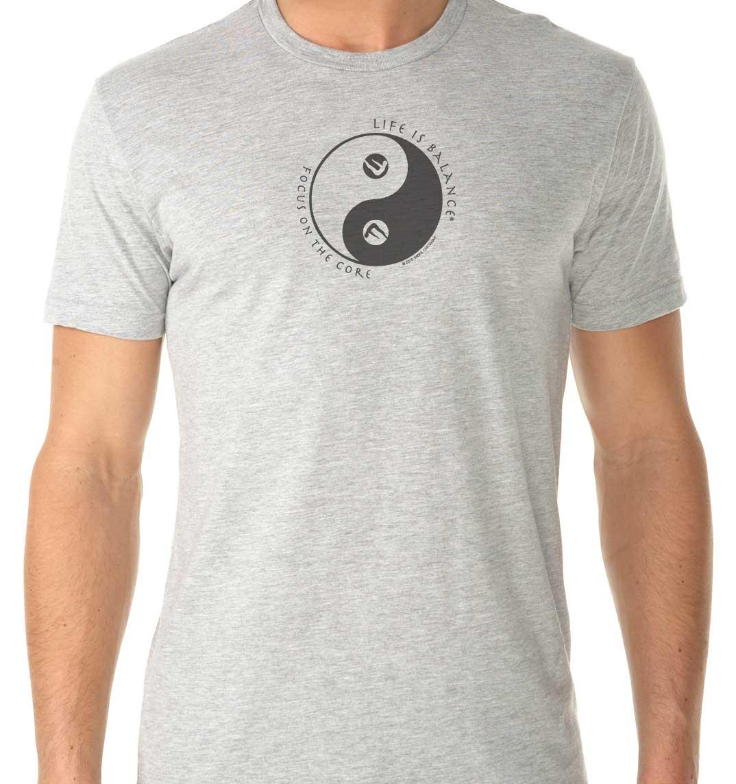 Pilates Men's/UnisexT-Shirt (Silverado/Black)