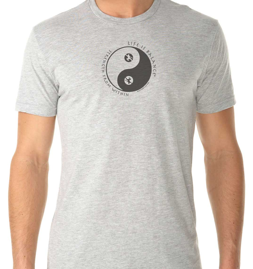 Strength from Within Men's/Unisex T-shirt (Heather Gray/Black))