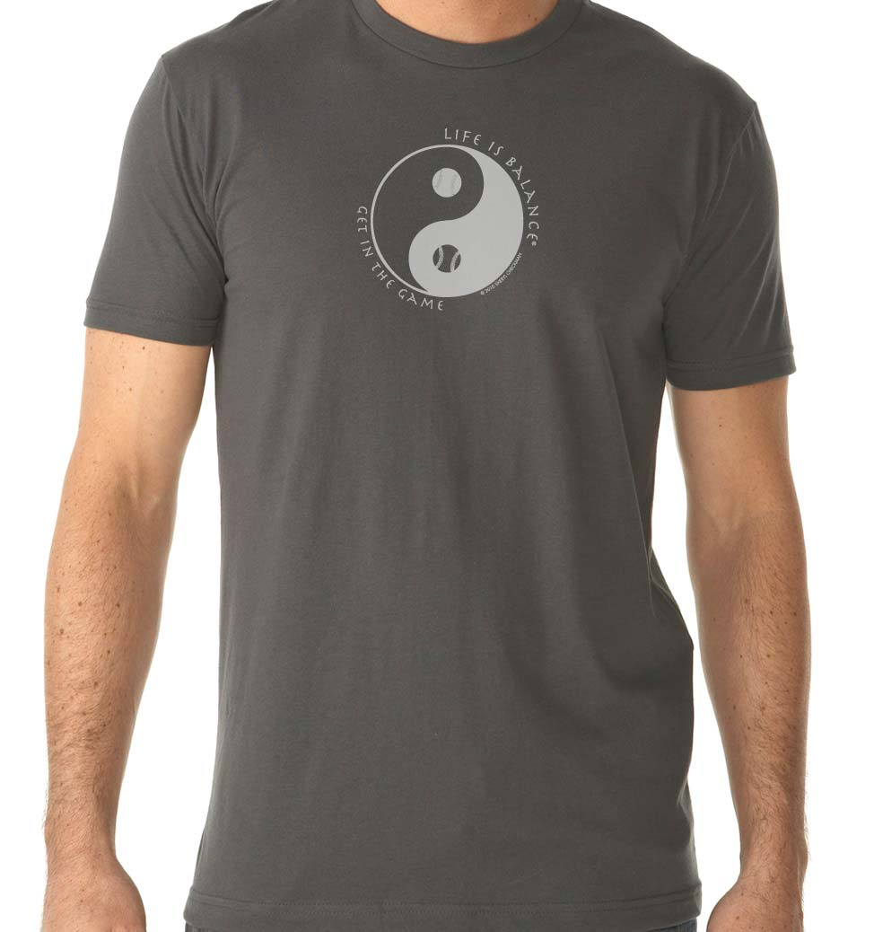 Men's short sleeve baseball/softball t-shirt (heavy metal)