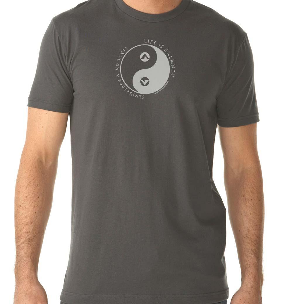 Men's short sleeve camping t-shirt (heavy metal/white)