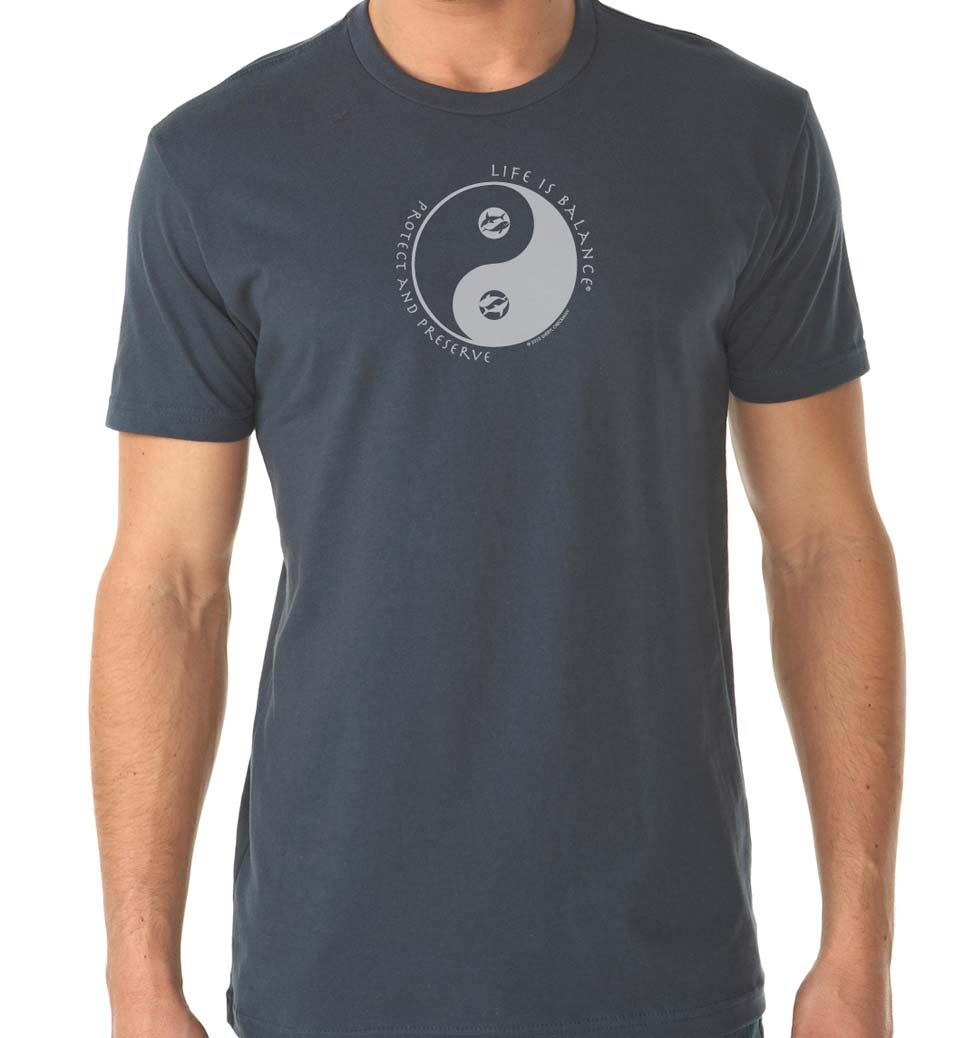 mens Ocean Conservation Fitted T-shirt (indigo/White)
