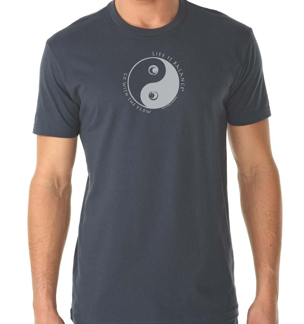 Men's short sleeve Ocean lover t-shirt (indigo/white)