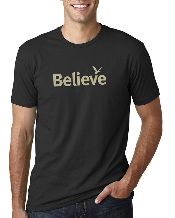 Men's short sleeve Believe T-shirt (Black)
