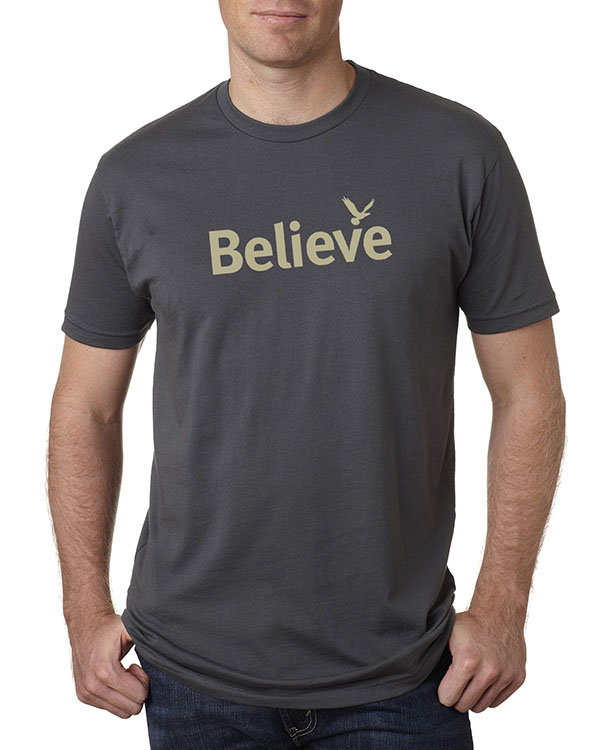 Men's short sleeve Believe T-shirt (Heavy Metal)