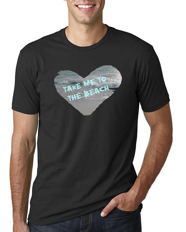 Men's short sleeve Take Me to the Beach T-shirt (Black)