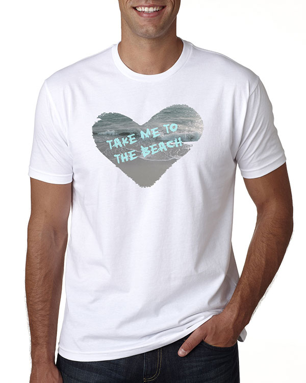 Men's short sleeve Take Me to the Beach T-shirt (White)