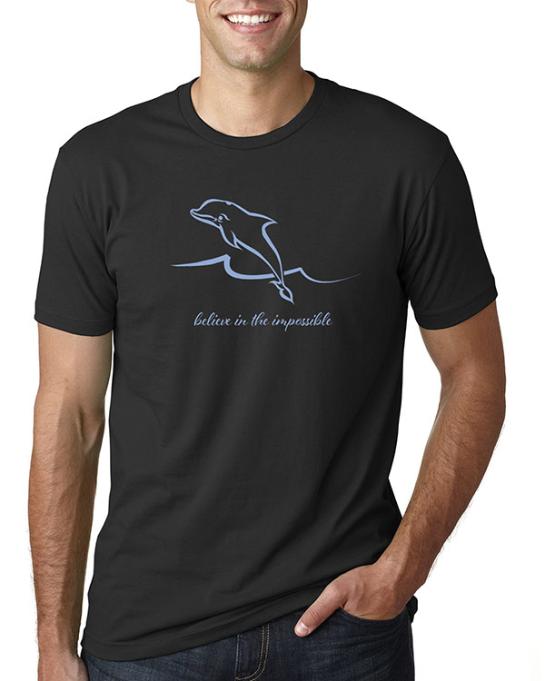 Men's short sleeve Dolphin T-shirt (Black)