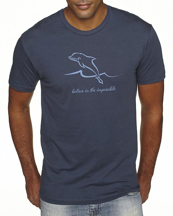 Men's short sleeve Dolphin T-shirt (Indigo)