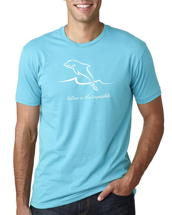 Men's short sleeve Dolphin T-shirt (Tahiti Blue)
