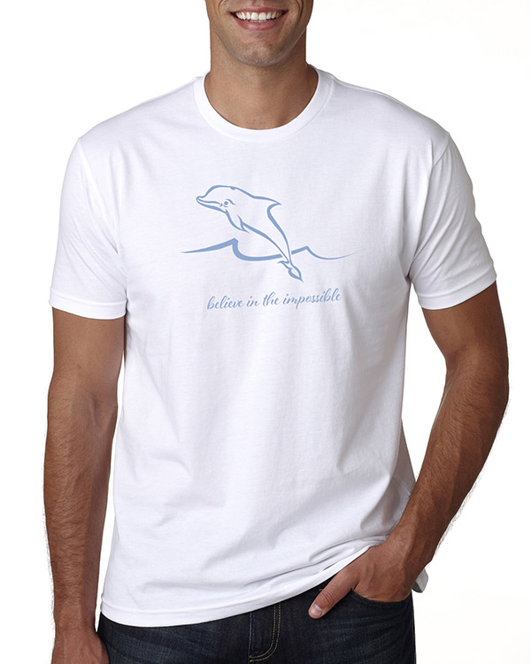 Men's short sleeve Dolphin T-shirt (White)