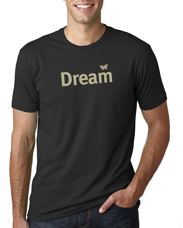 Men's short sleeve Dream T-shirt (Black)