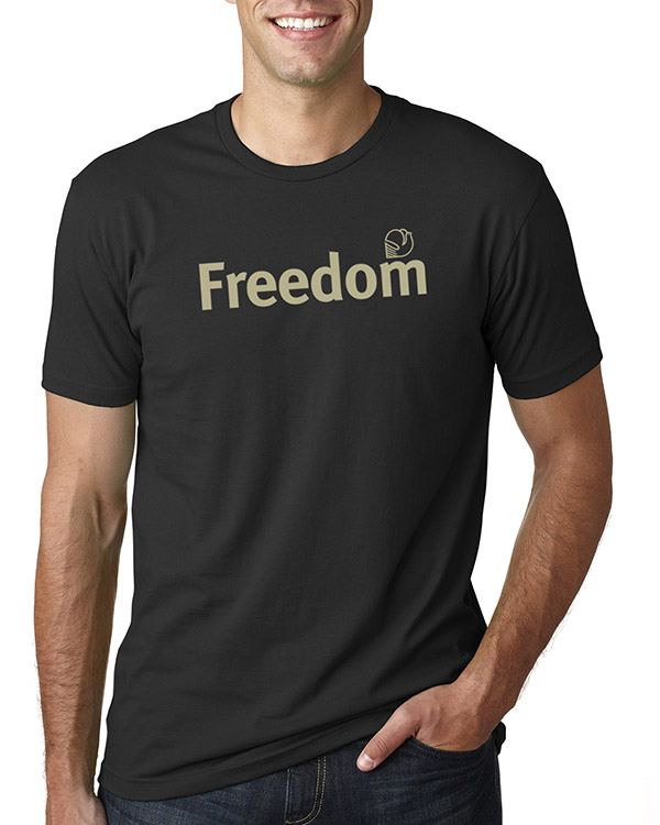 Men's short sleeve Freedom T-shirt (Black)