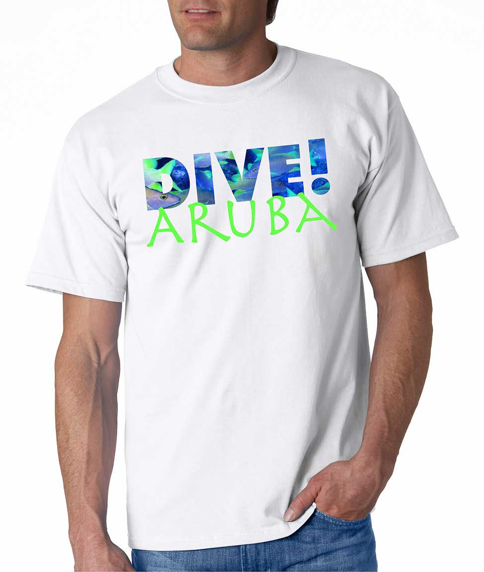Men's short sleeve Dive Aruba t-shirt White