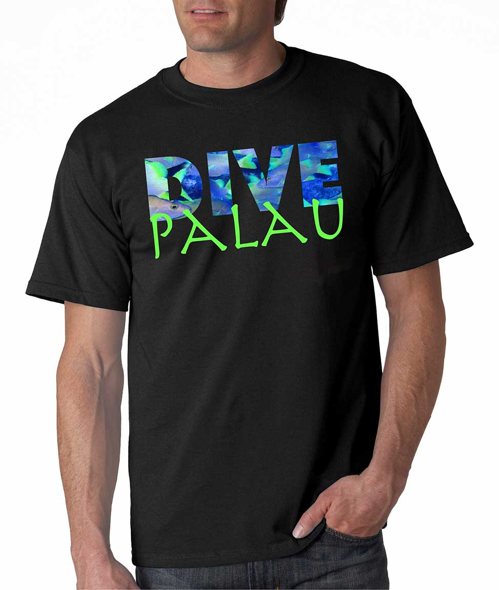 Life is balance dive palau scuba diving t shirts for men for T shirt printing in palmdale ca