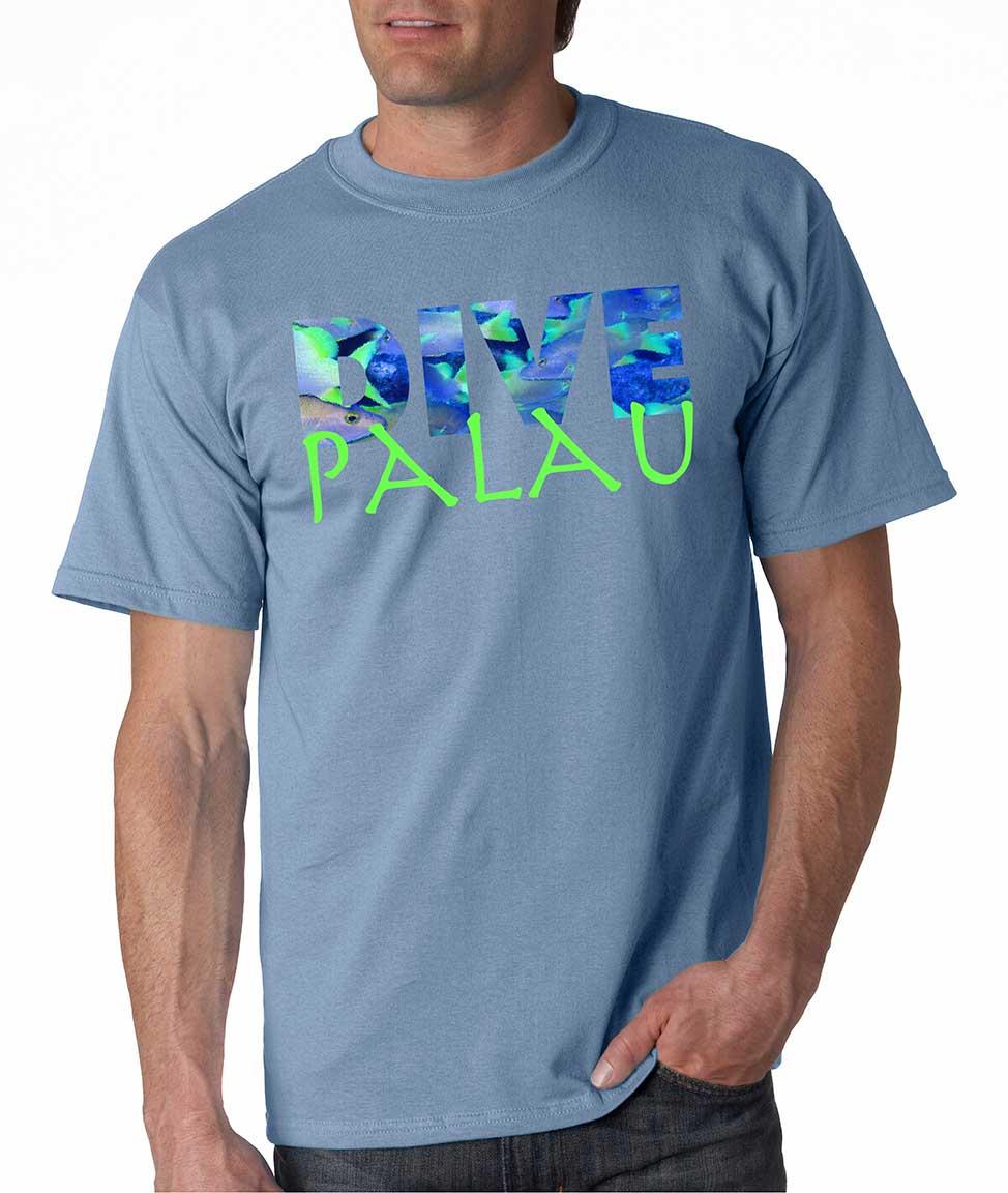 Men's Shirt Sleeve Dive Palau t-shirt Carolina Blue