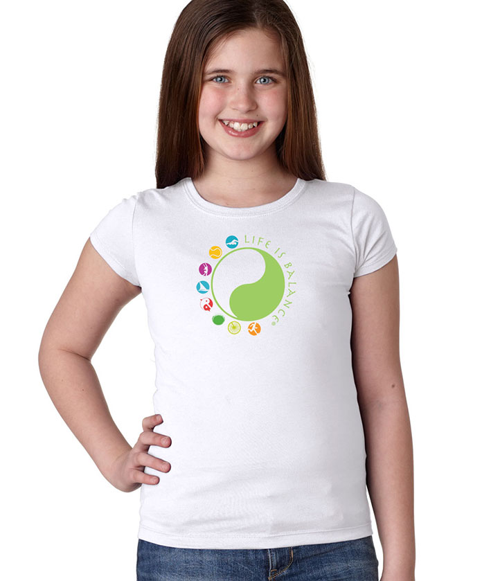 Girl's Life is Balance Logo T-Shirt
