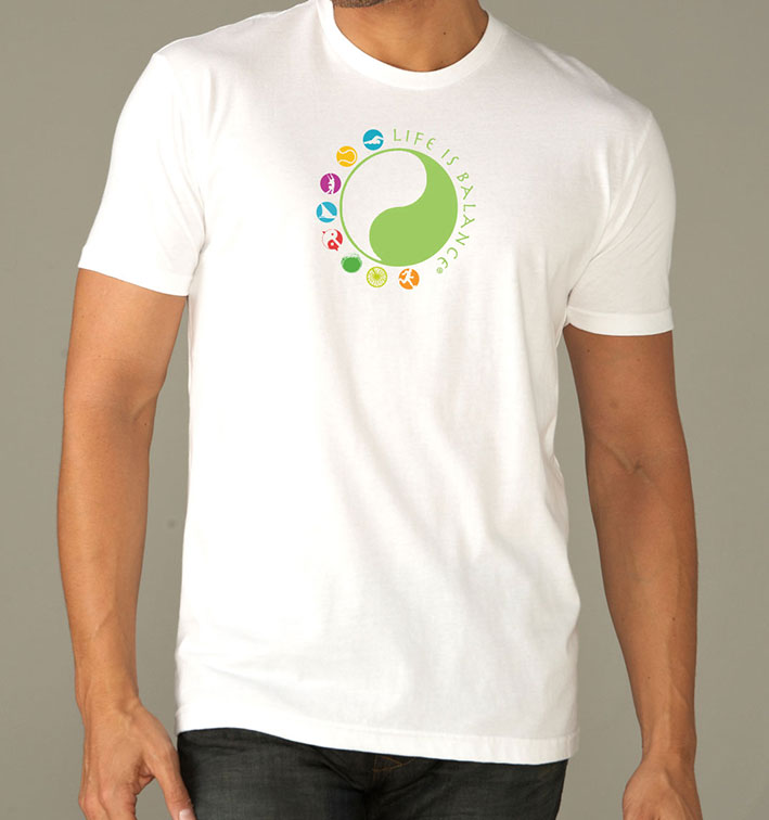 Life is Balance logo men short sleeve t-shirt