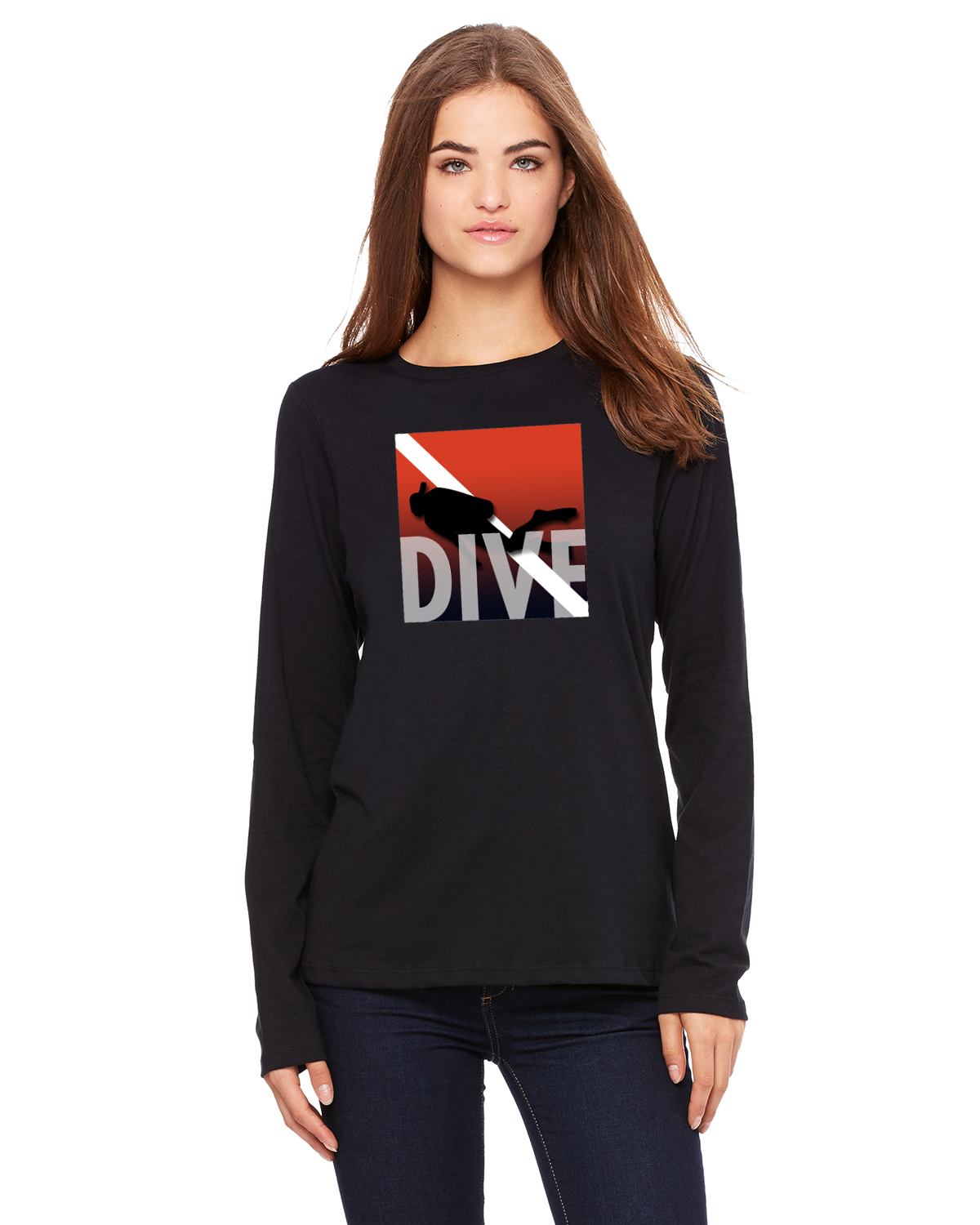 Life is Balance inspirational scuba diving long sleeve t shirts for ... 600970856