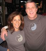 Tim and Sheryl wearing Life is Balance Yoga and Ski