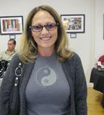 Maggie wear the Life is Balance Yoga t-shirt